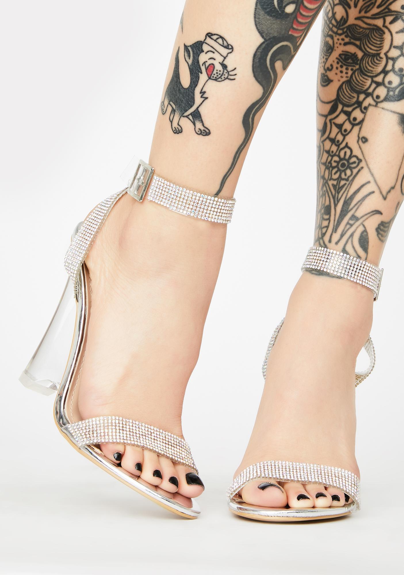Icy Flex Rhinestone Heels