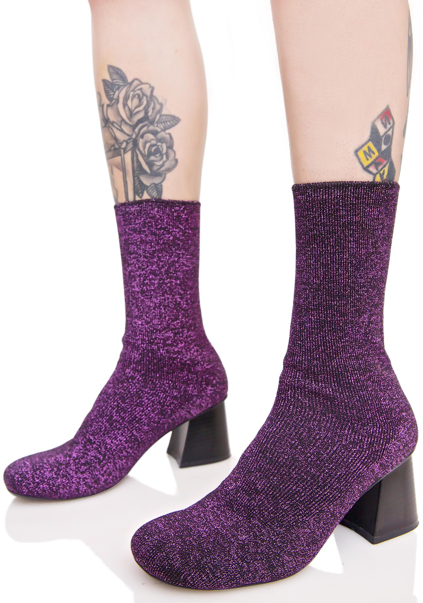 Strictly Shimmer Sock Boots