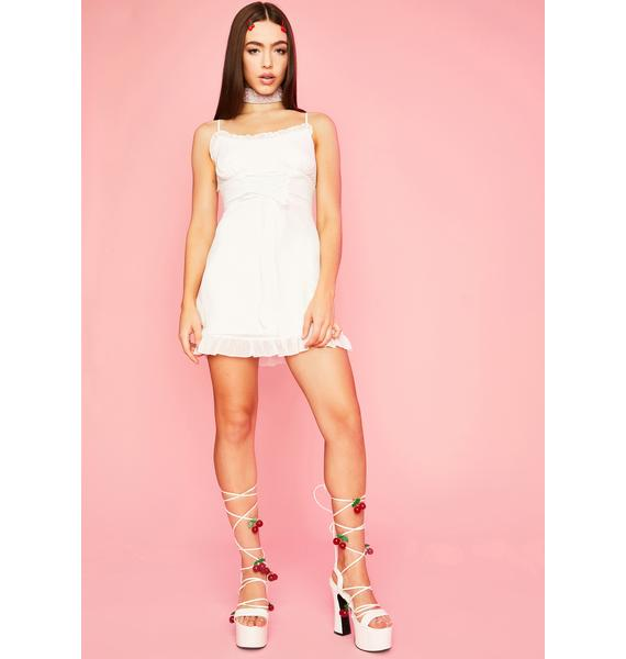 Sugar Thrillz Innocent Indulgence Lace Up Dress