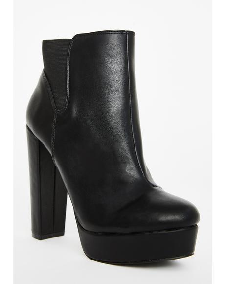 Dark Fatal Facade Heeled Boots