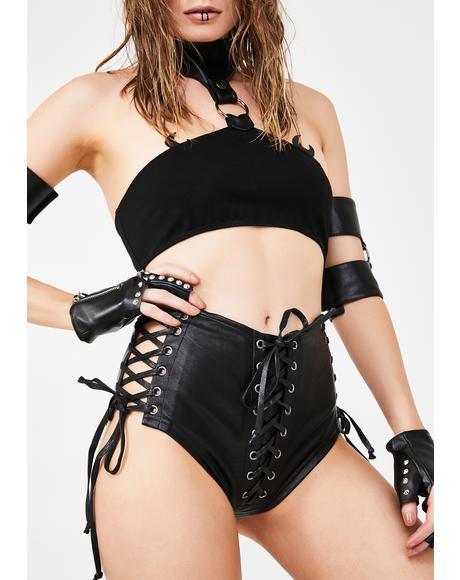 Lady Minxx Lace-Up Shorts