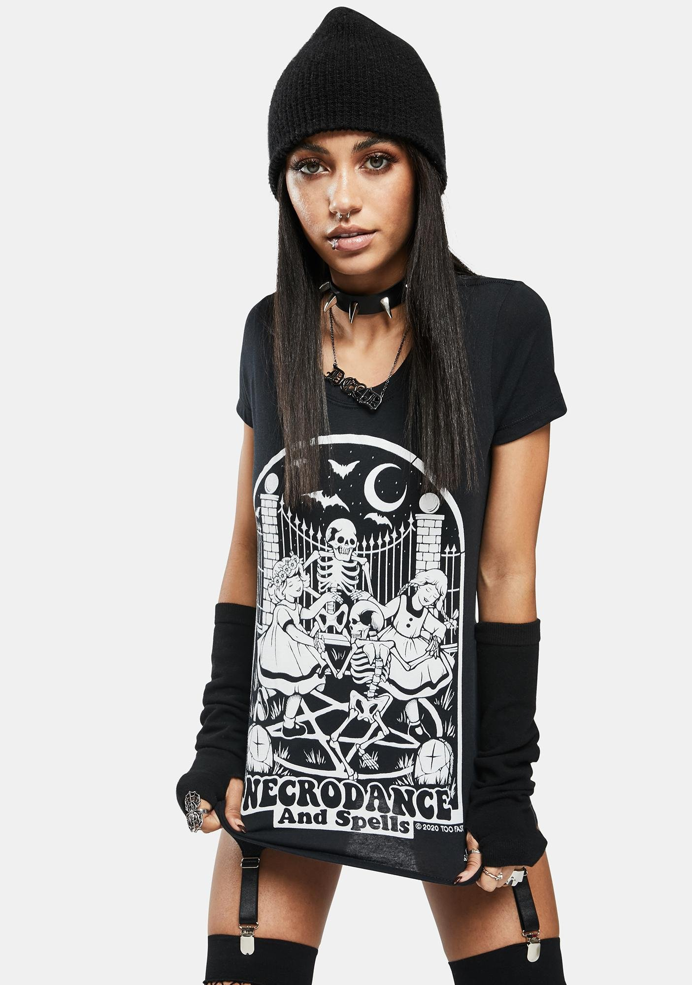 Too Fast Necrodance And Spells Graphic Tee