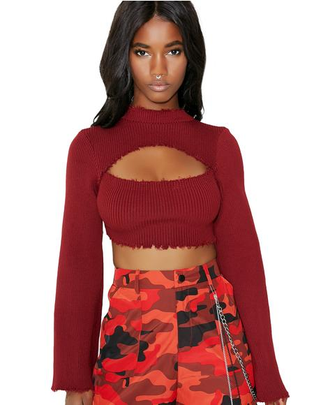 Center Of Attention Crop Top