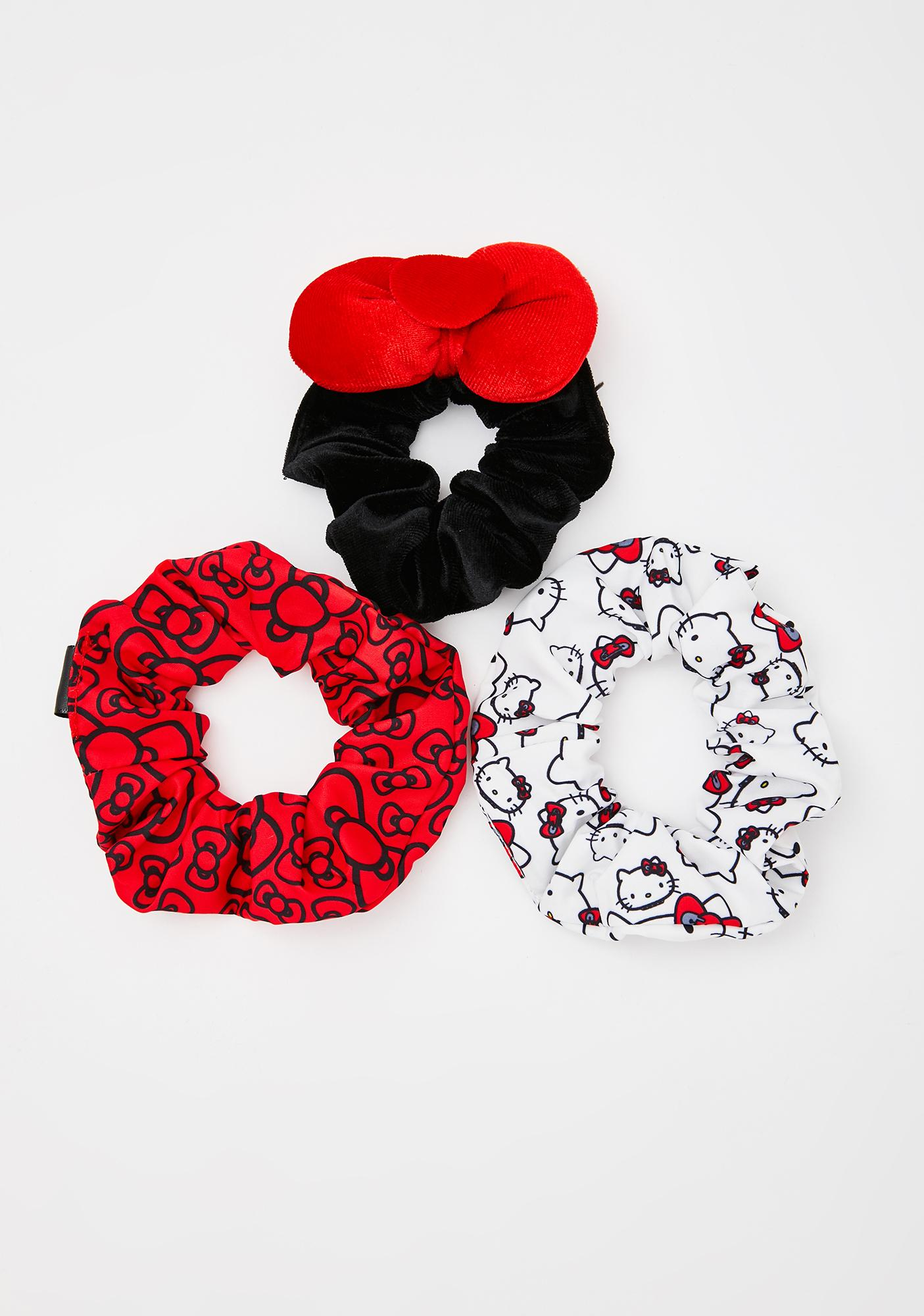 Dolls Kill x Hello Kitty Wonderland Woes Scrunchie Set
