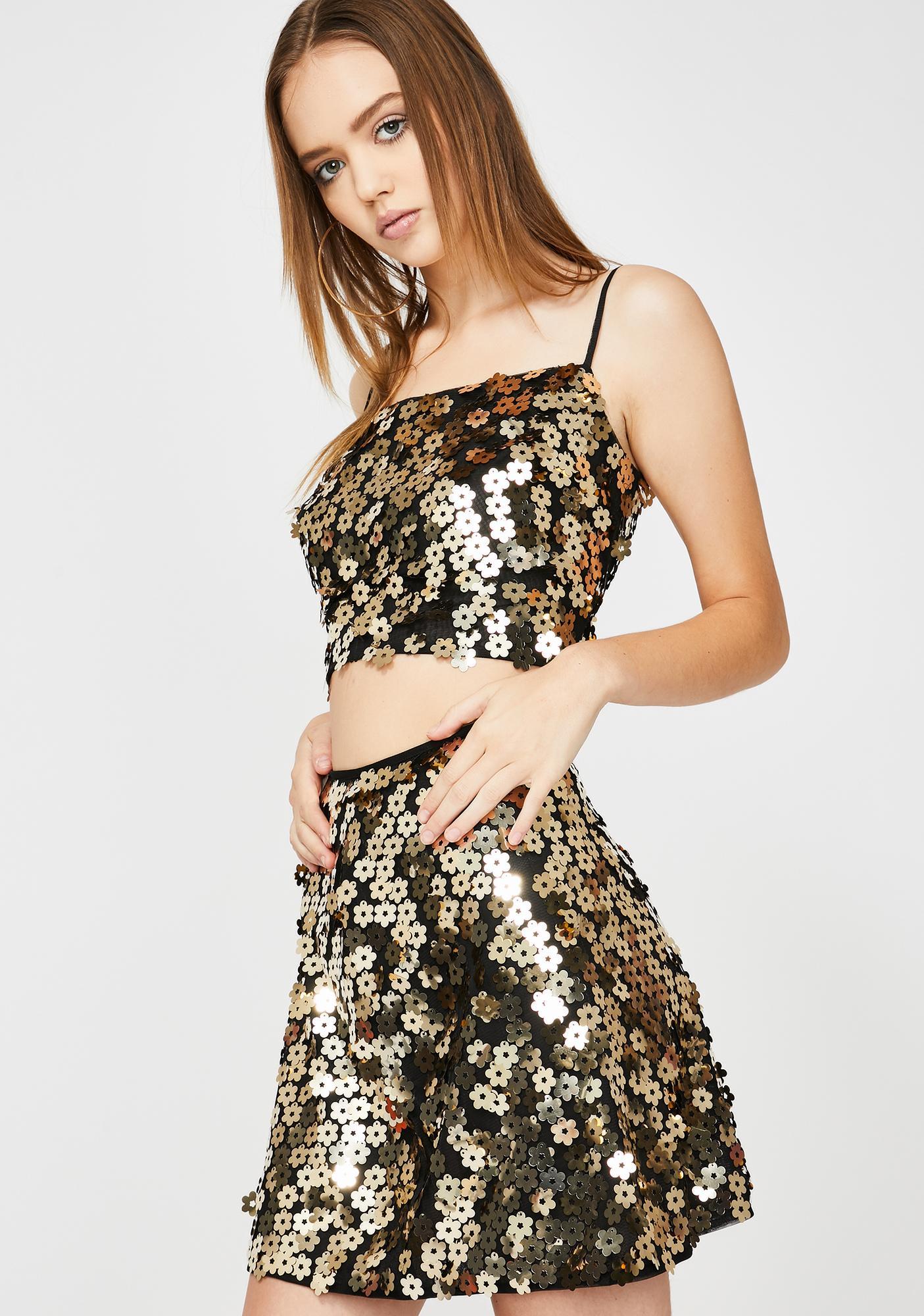Lirika Matoshi Gold Flower Sequin Set