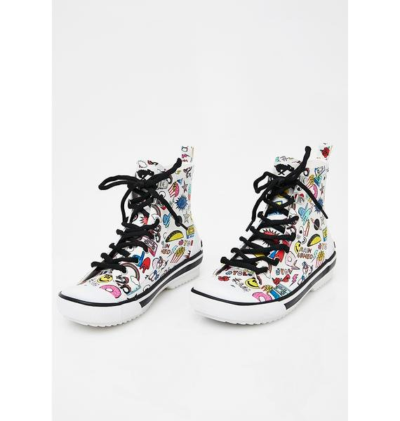 Rocket Dog Rainy Multi Swag Sneaker Rain Boots