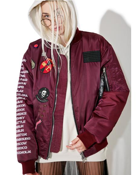 Rebel Tour MA-1 Bomber Jacket