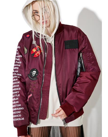 Rebel Tour MA-1 Bomber Jacket