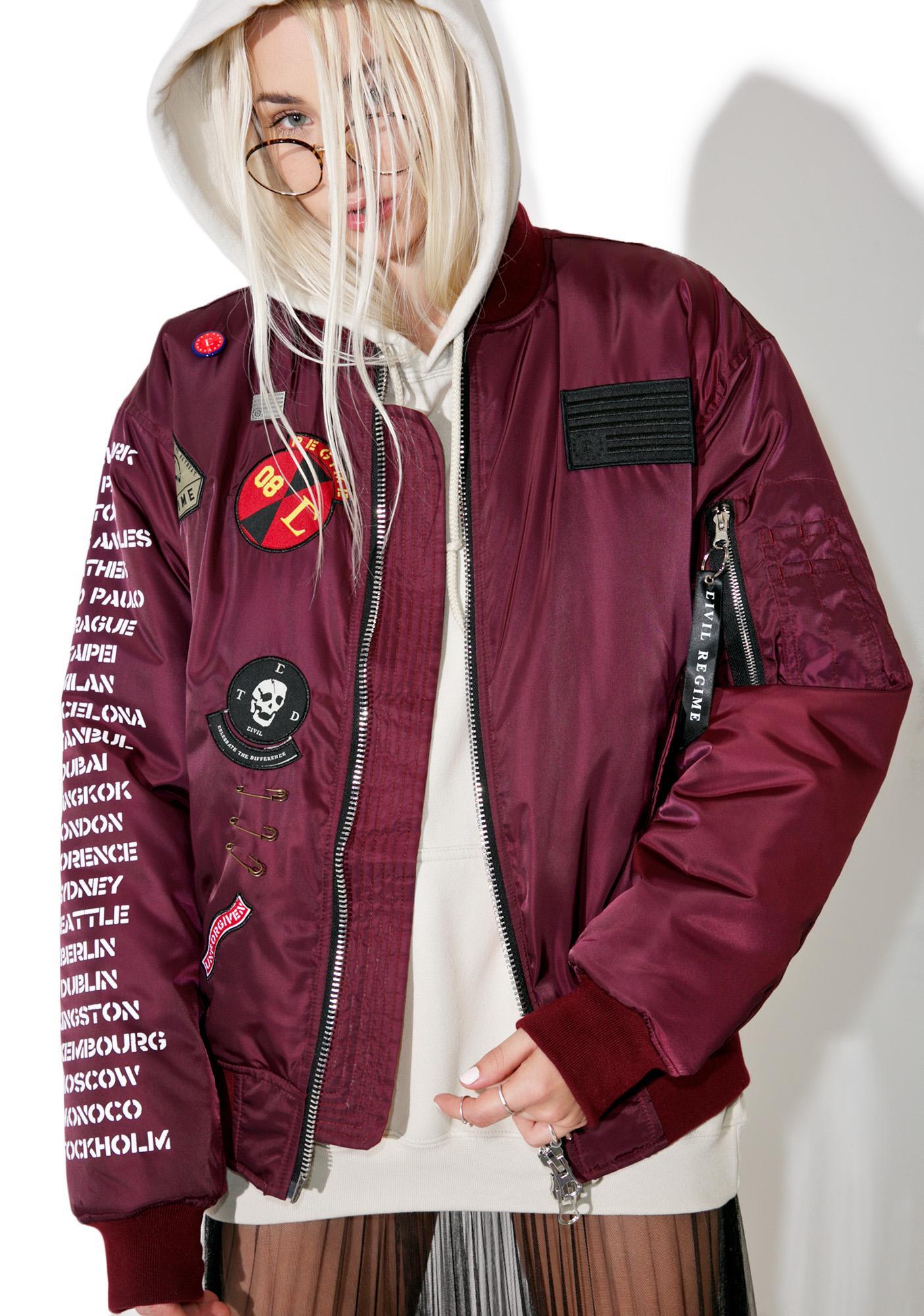 Civil Clothing Rebel Tour MA-1 Bomber Jacket