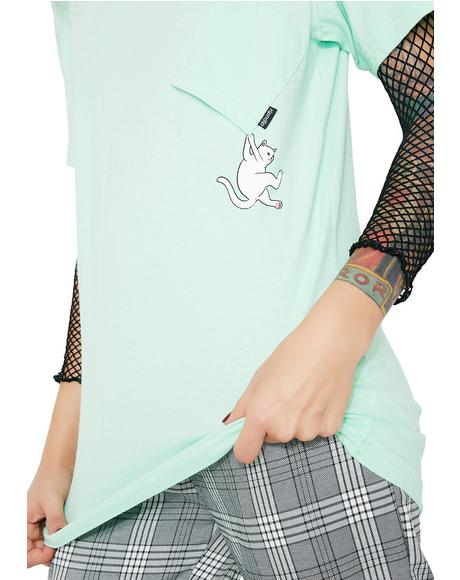 Pastel Green Hang In There Tee