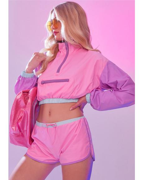 Whip It Colorblock Windbreaker Set