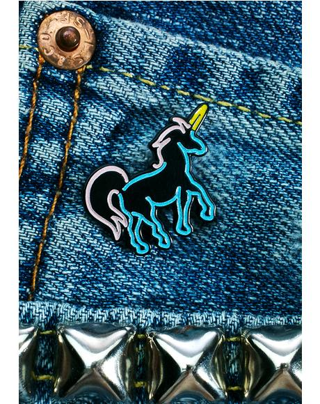 Neon Unicorn Pin