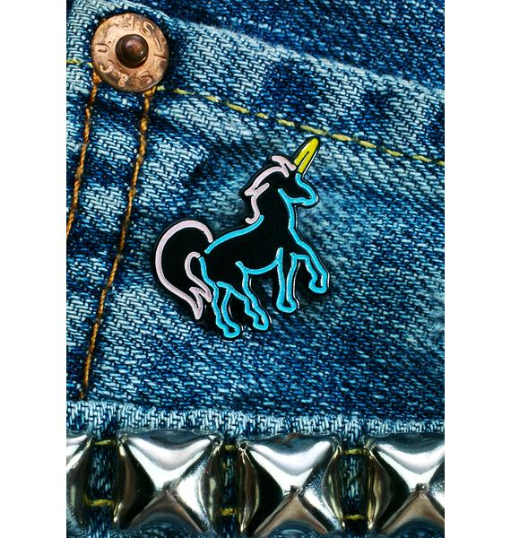 Laser Kitten Neon Unicorn Pin