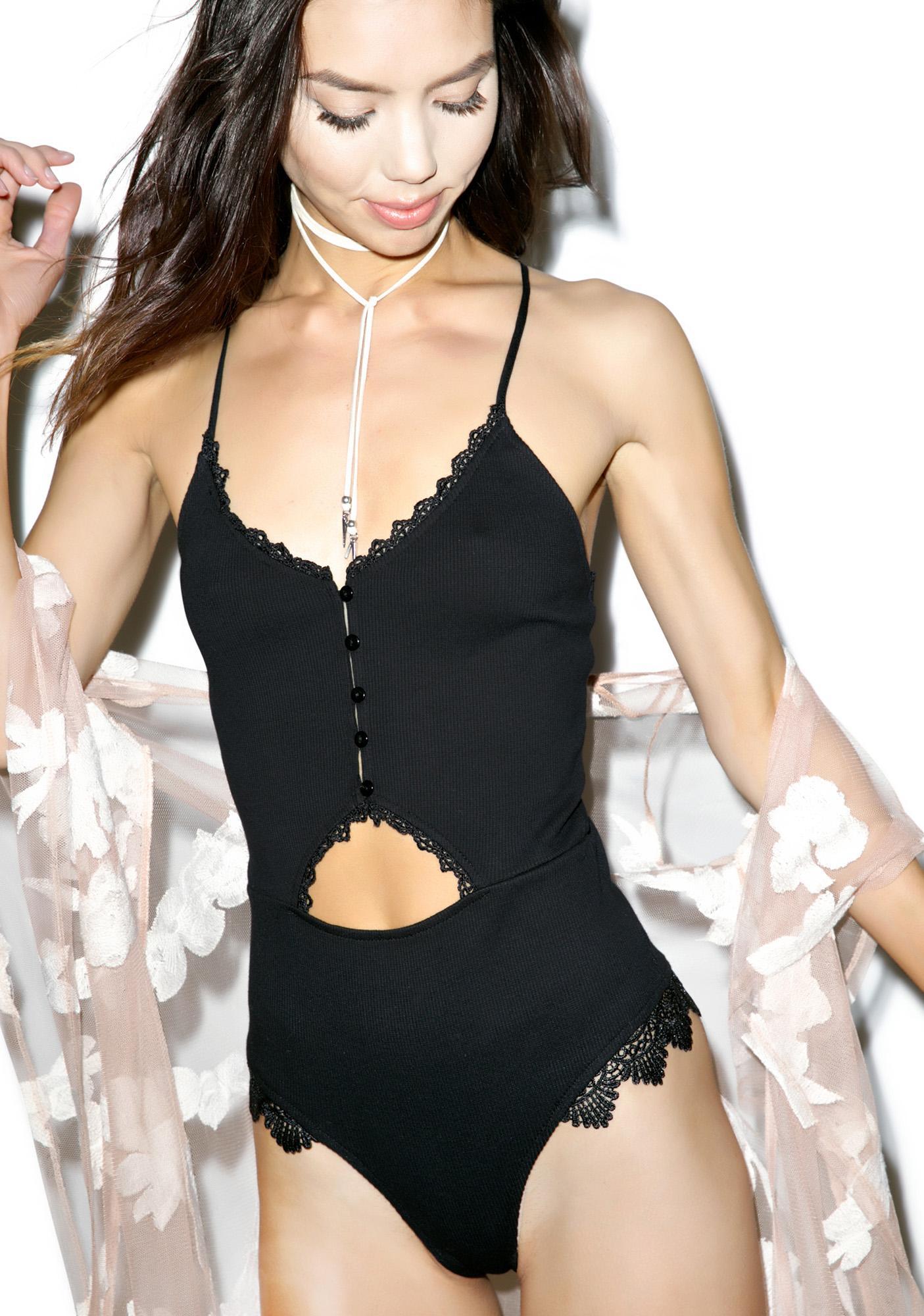 Bella Lace Halter Bodysuit