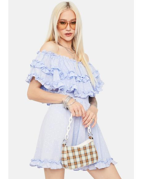 Send Me Summer Ruffle Off Shoulder Sundress