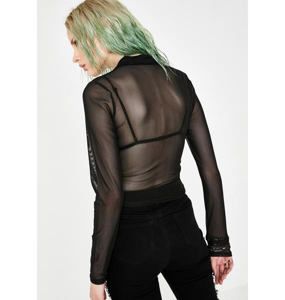 Current Mood After Hours Mesh Blouse