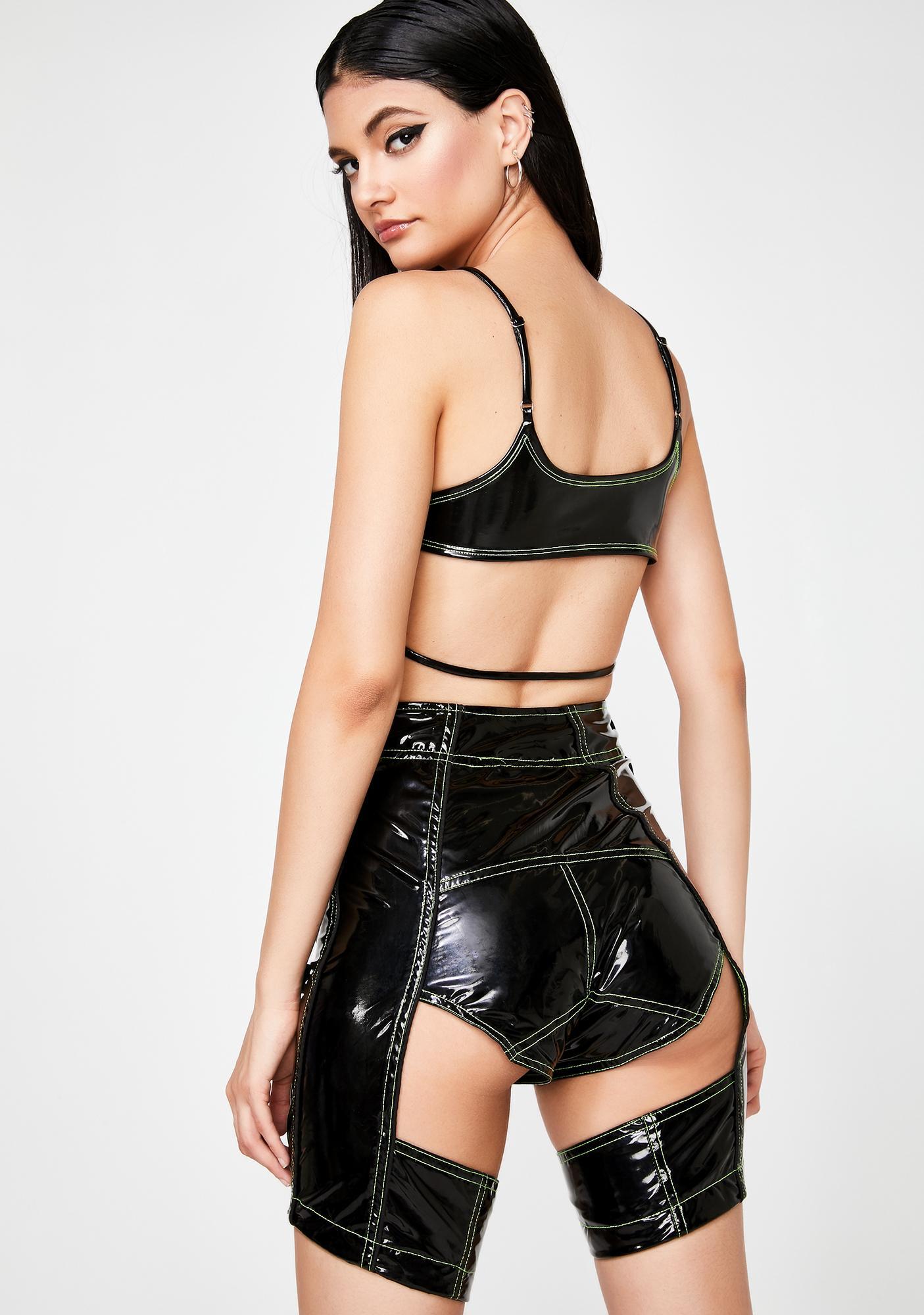 Lipt The Label PVC Moto Shorts