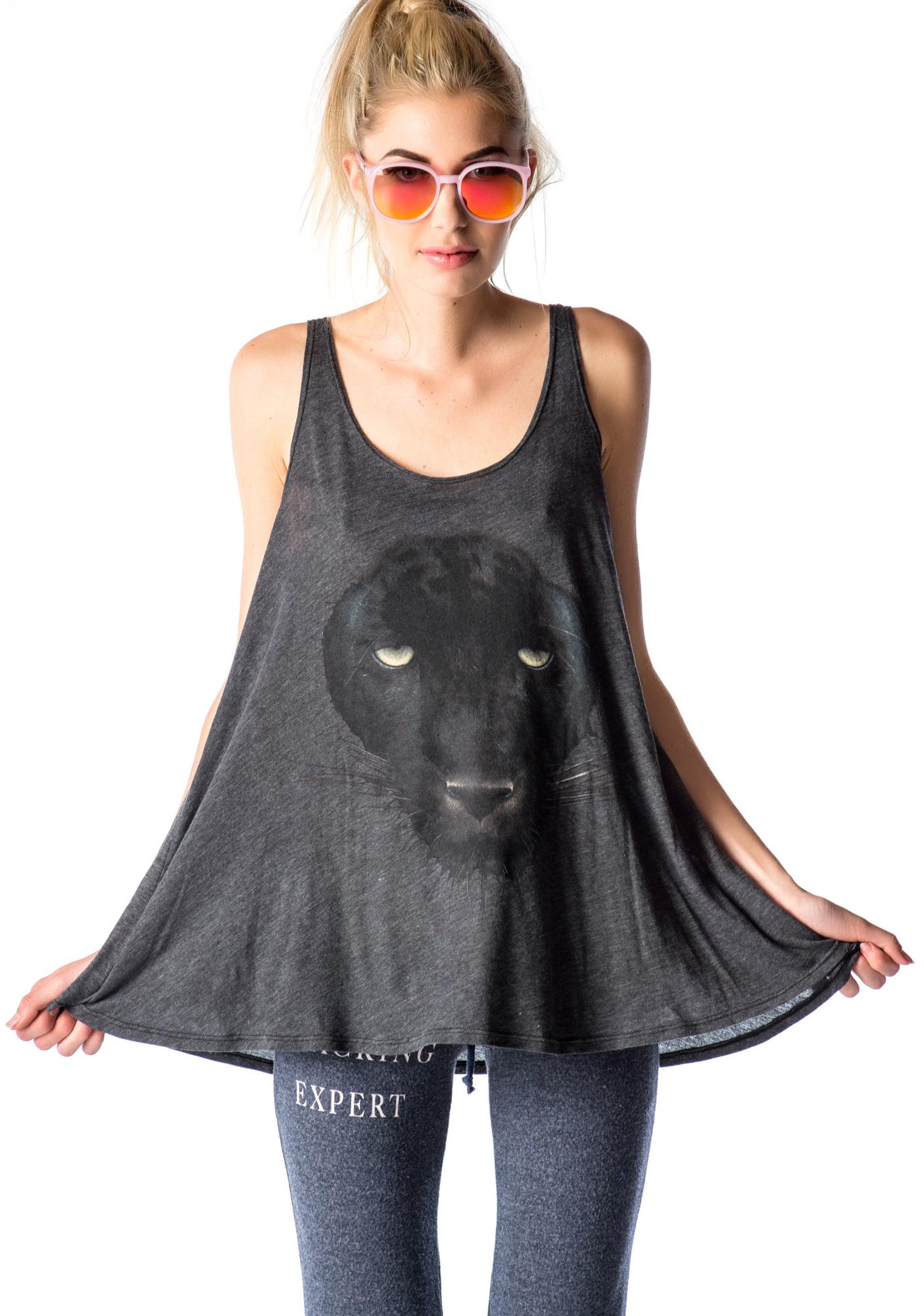 Wildfox Couture Black Panther Indiana Tank