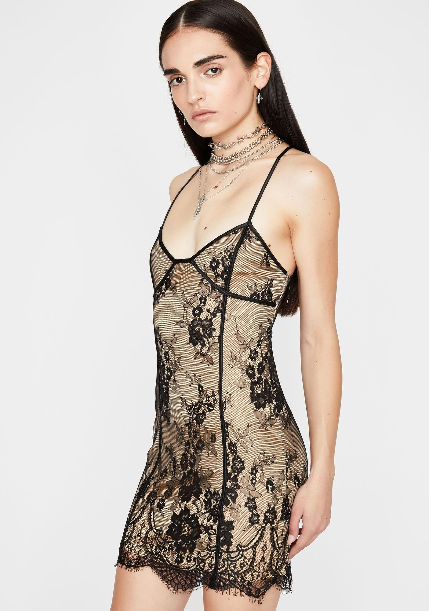 Your Loss Lace Mini Dress