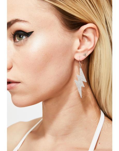 Electric Feel Lightning Bolt Earrings