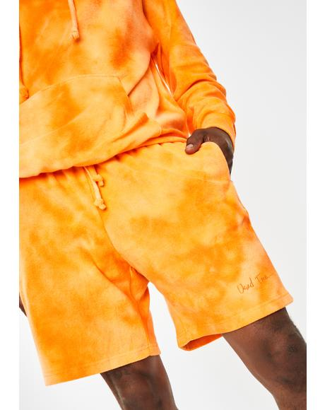 Orange Juicy Tie Dye Shorts