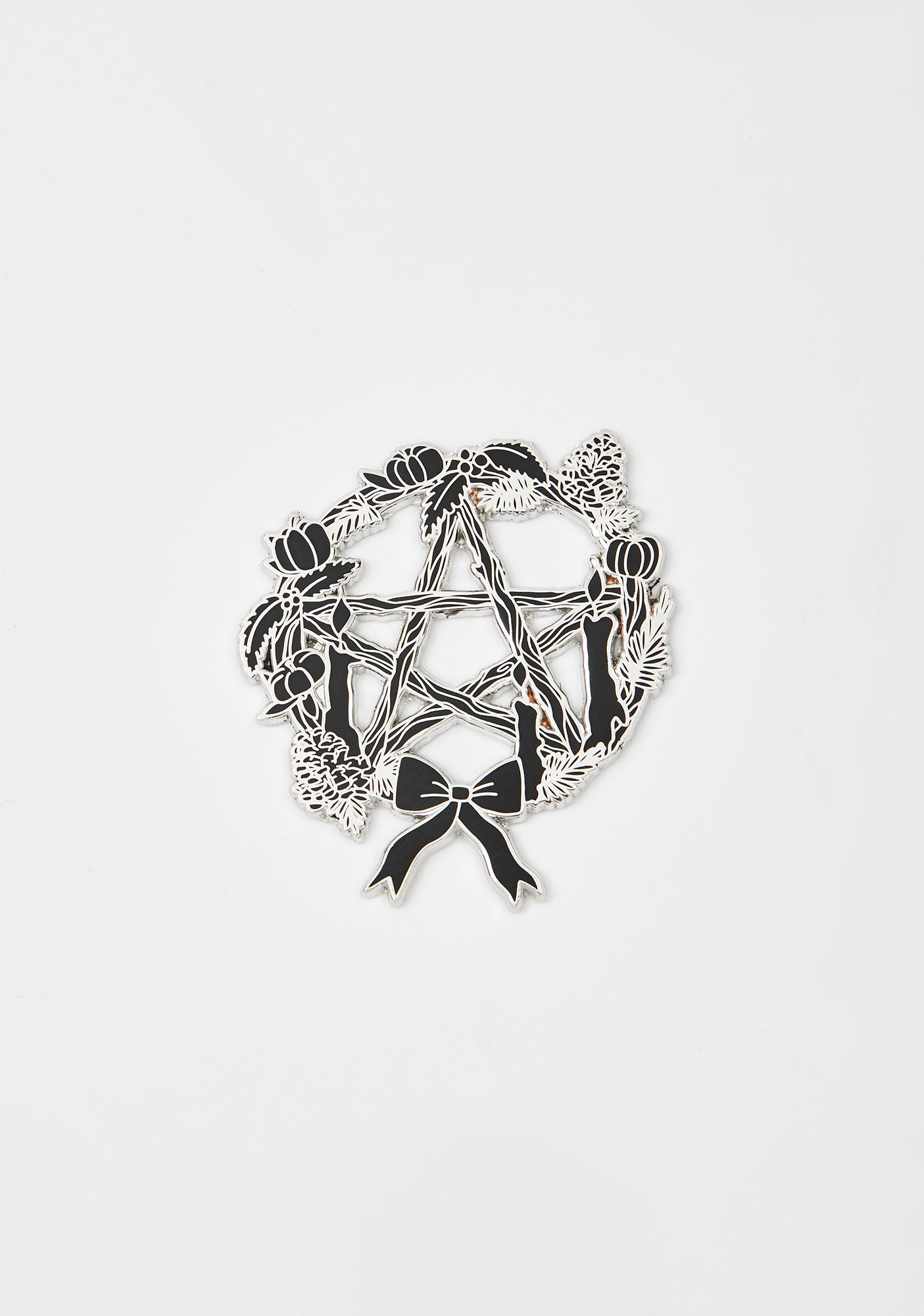 Pentacle Wreath Pin Brooch by Lady Moon Co.
