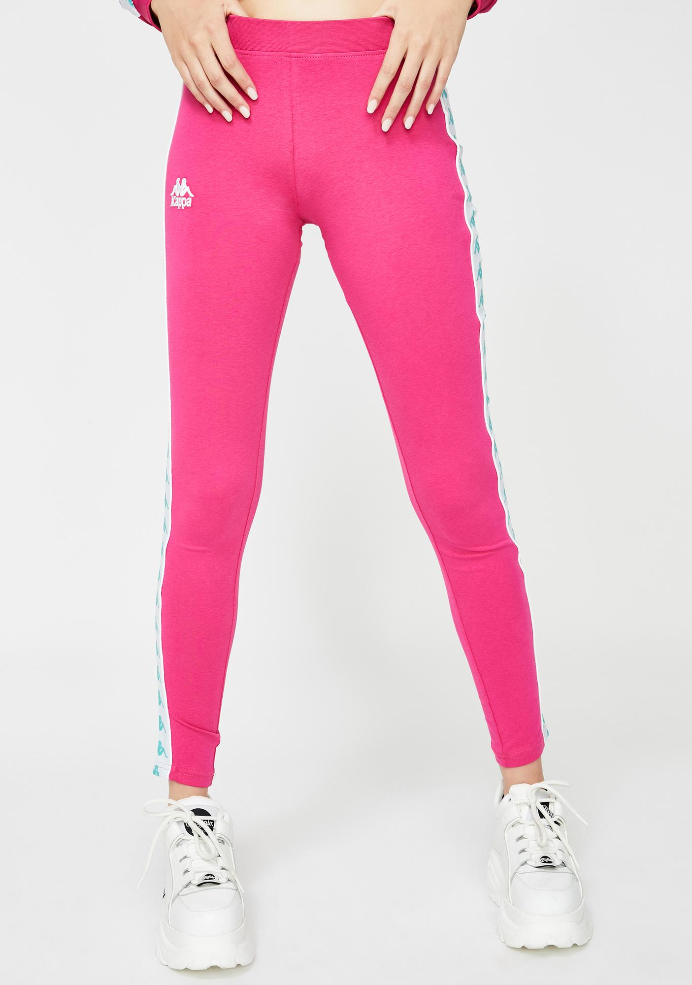 Fuchsia 222 Banda Anen Leggings by Kappa