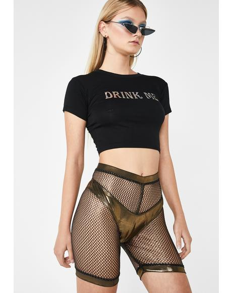 Golden Sonic Worship Bikini N' Shorts Set