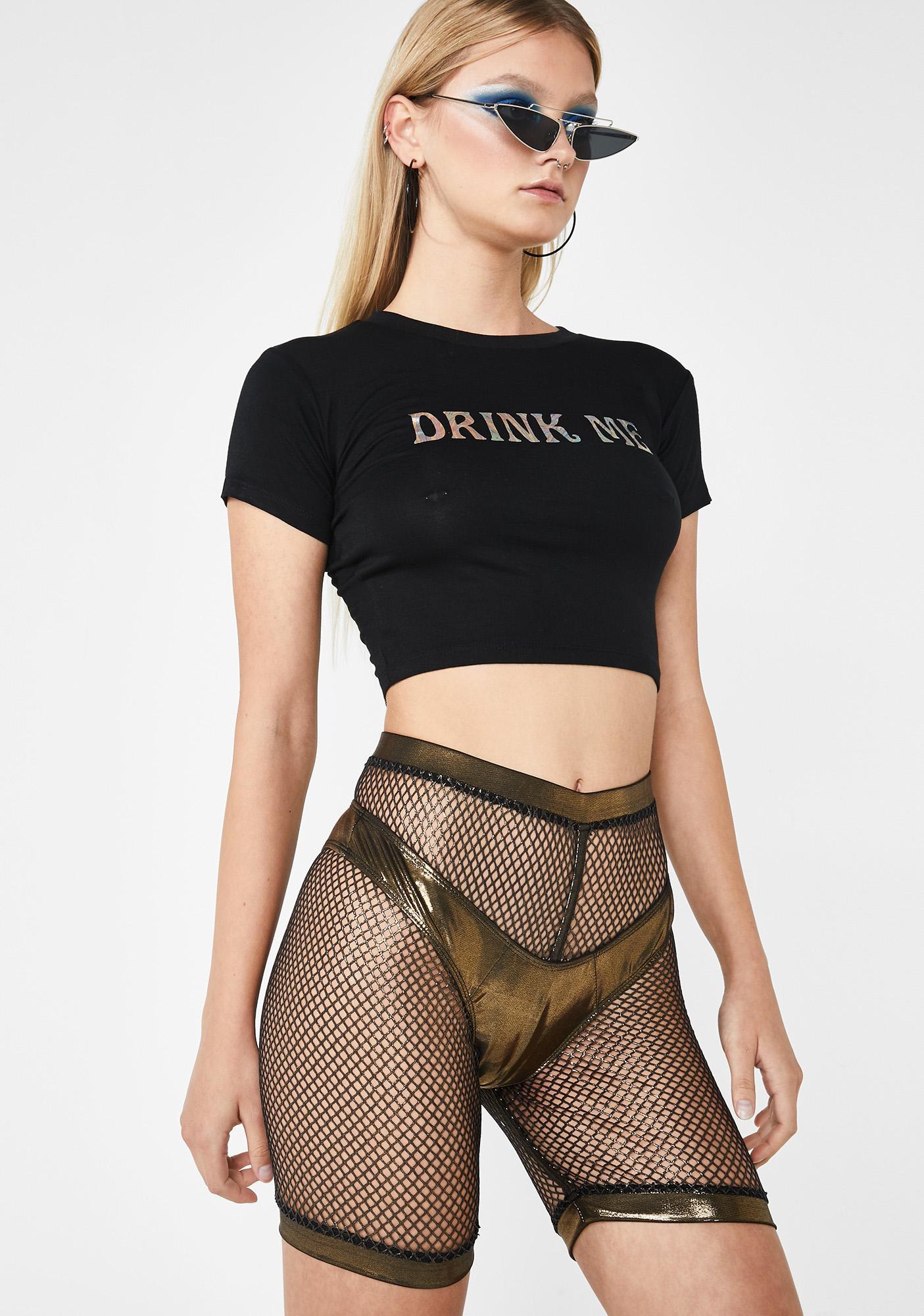 Club Exx Golden Sonic Worship Bikini N' Shorts Set