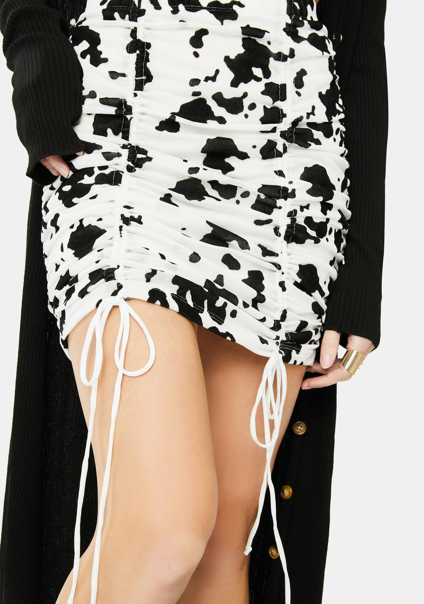 Motel Flock Dalmatian Jora Mini Skirt