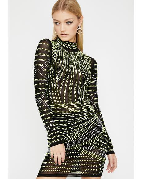 Crystal Acid Embellished Dress