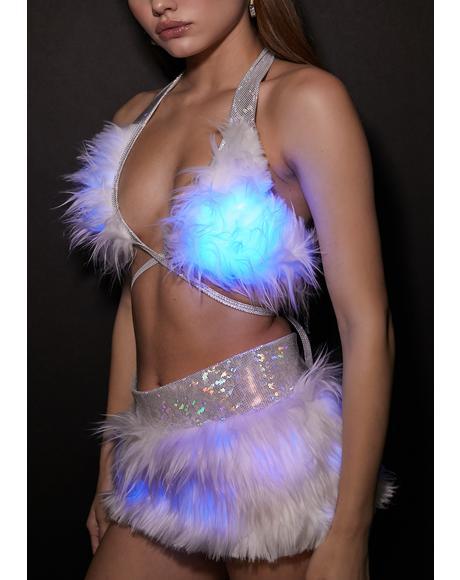 Blue Hype Hologram Light-Up Skirt