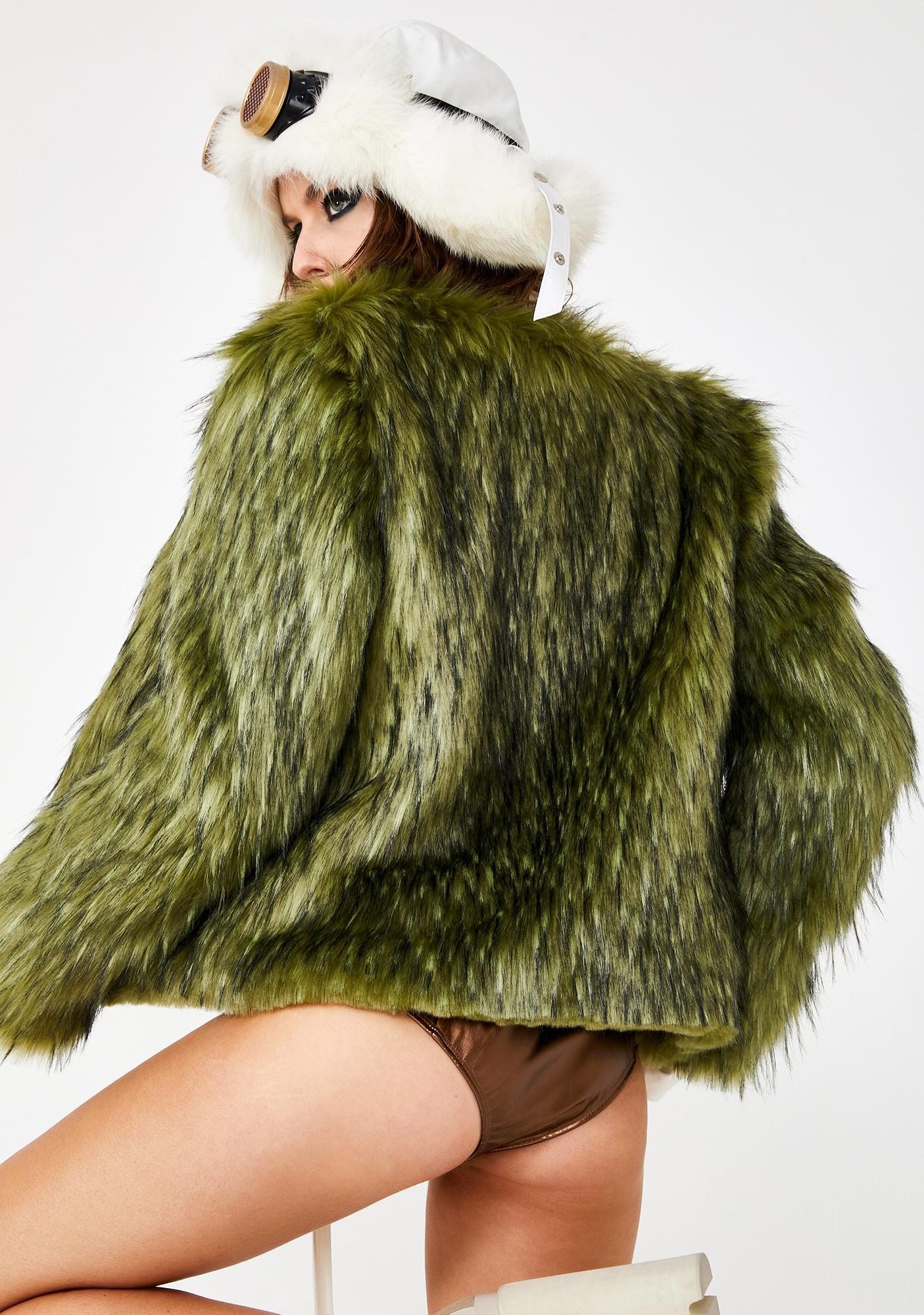 SpiritHoods Jade Fox Faux Fur Bomber Jacket