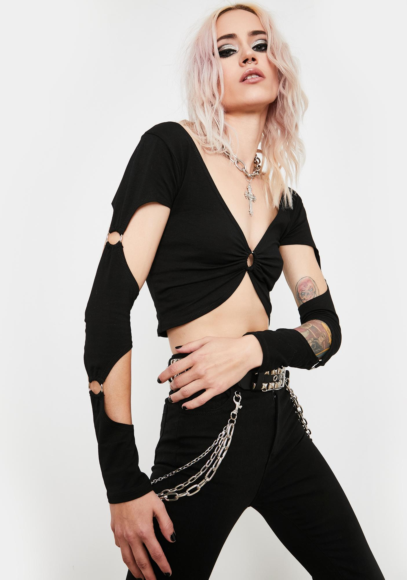 Current Mood Backstage Pass Crop Top