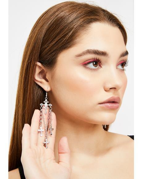 Spiritual Necessity Cross Earrings