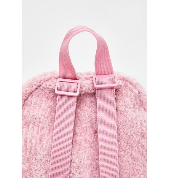 Dickies Blush Sherpa Mini Backpack