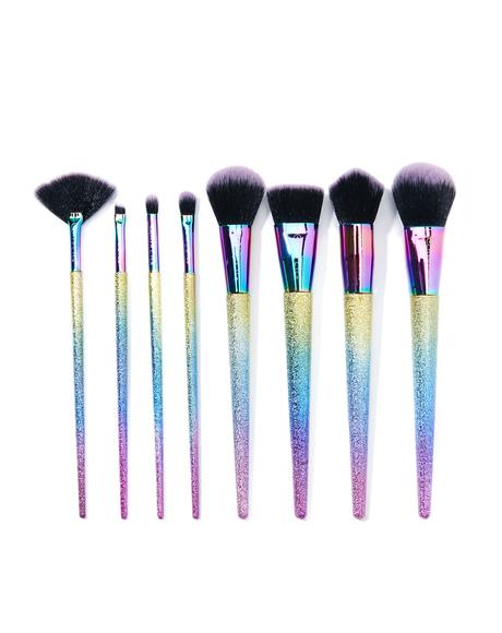 Metallic Rainbow Brush Set