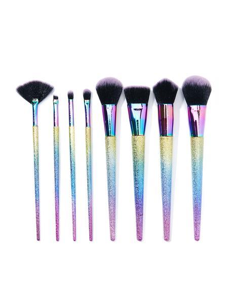 Metallic Rainbow Brush Set