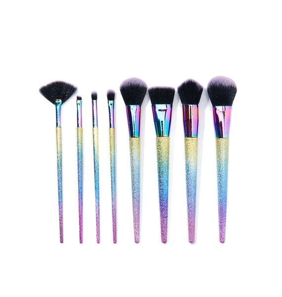 Certifeye Metallic Rainbow Brush Set