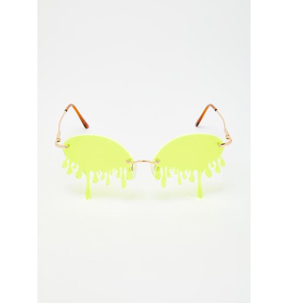IWANTITALL Neon Tear Glasses