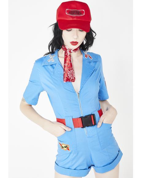 Pit Stop Hottie Costume Set