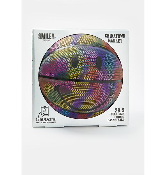 CHINATOWN MARKET Rainbow Reflective Smiley Basketball