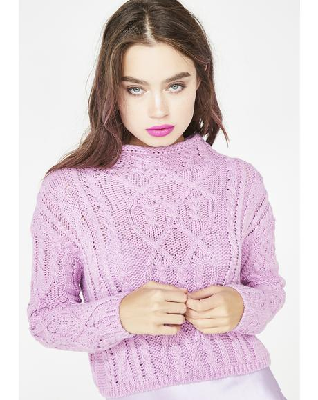 Sweet Enigma Crop Sweater