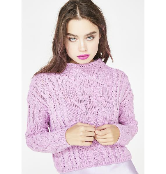 Glamorous Sweet Enigma Crop Sweater