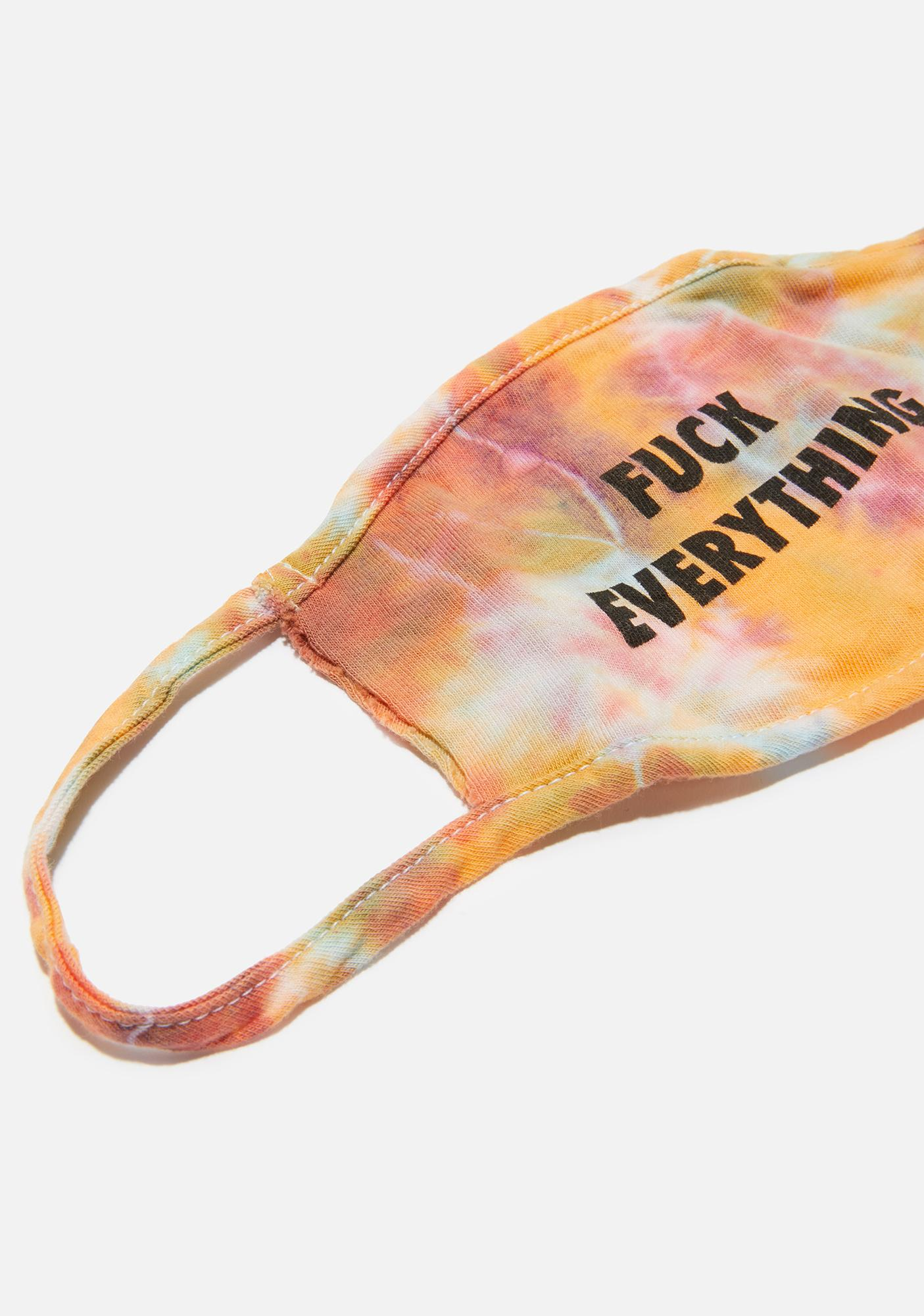 Kill Brand Fuck Everything Orange Tie Dye Face Mask