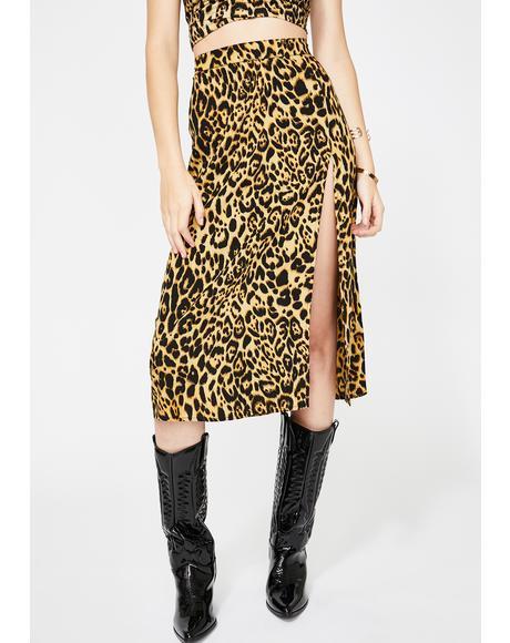 Leopard Saika Skirt