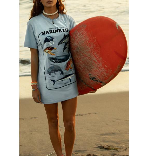 dELiA*s by Dolls Kill Under The Sea Oversized Tee