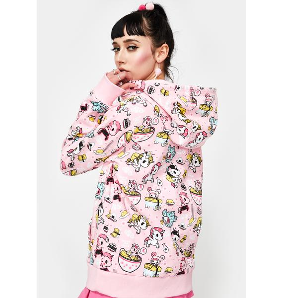 Tokidoki X Gudetama Take Out Zip Up Hoodie