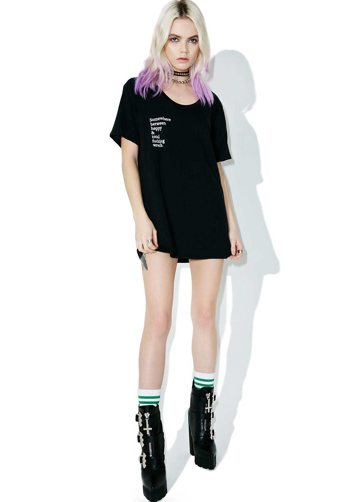 Balm Apparel Happy Wreck Tee | Dolls Kill