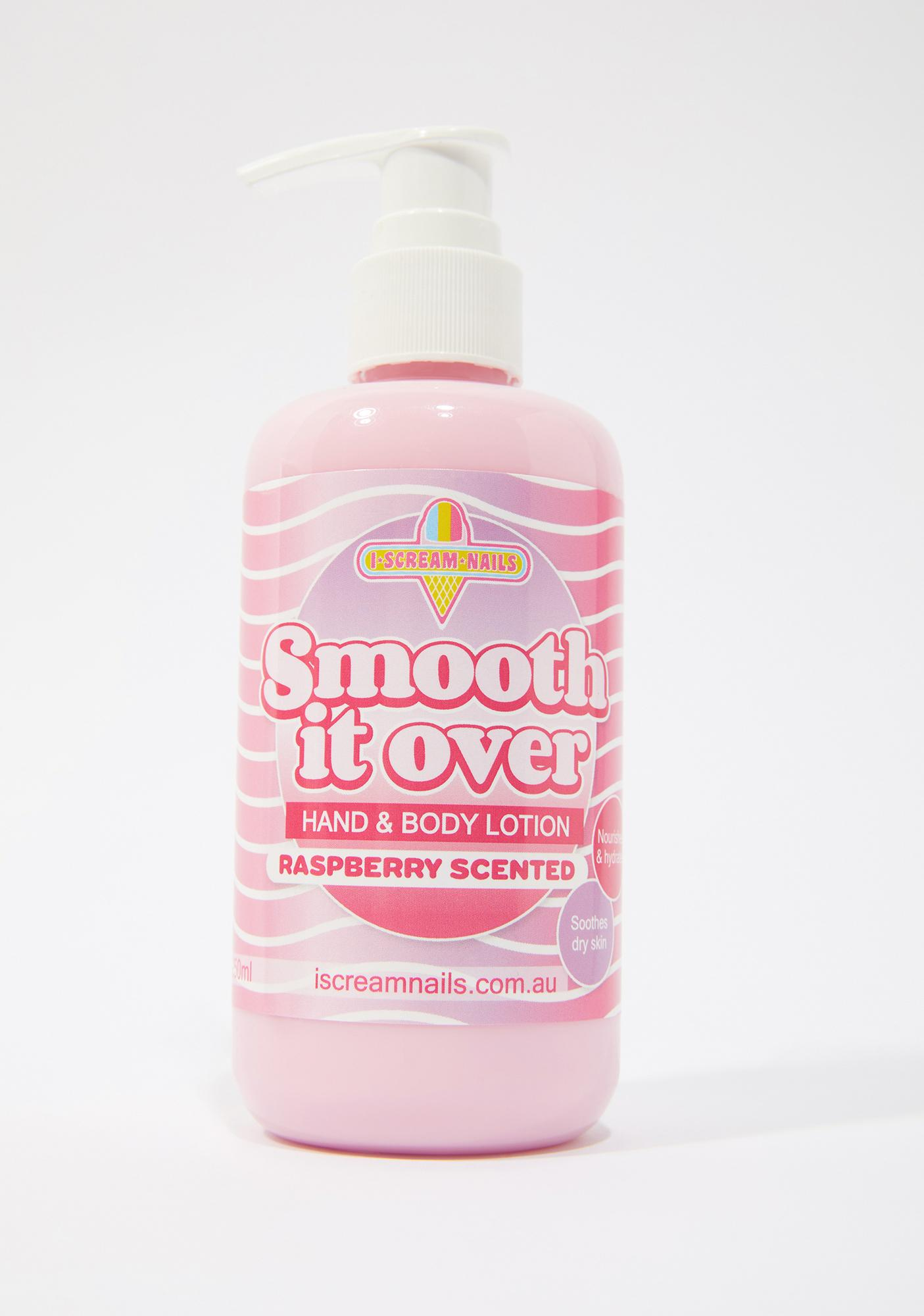 I Scream Nails Raspberry Smooth It Over Hand & Body Lotion